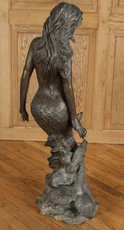 BRONZE FOUNTAIN IN THE FORM OF A MERMAID - 6