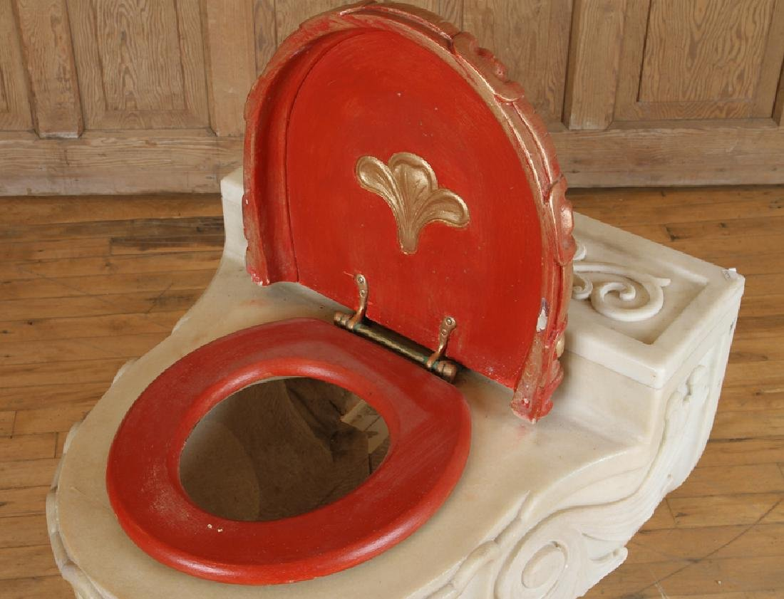 SHERLE WAGNER ITALIAN CARVED MARBLE TOILET - 3