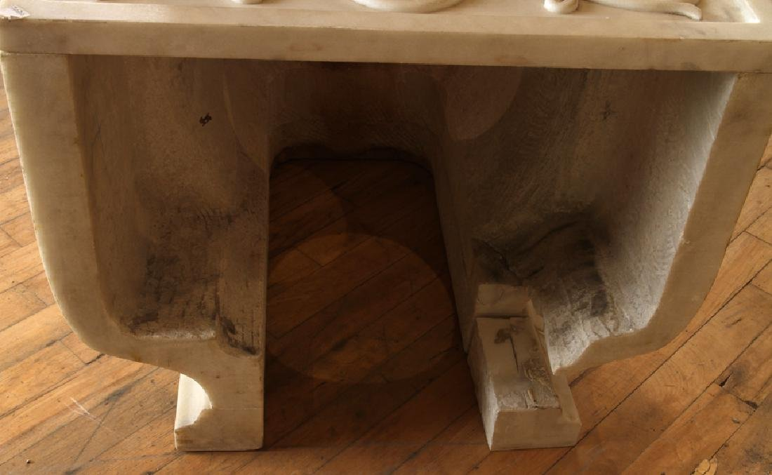 SHERLE WAGNER ITALIAN CARVED MARBLE TOILET - 5