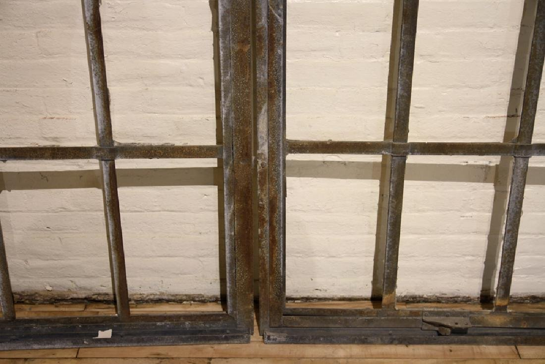 5 PART GALVANIZED IRON ARCHED TOP WINDOW C.1910 - 4
