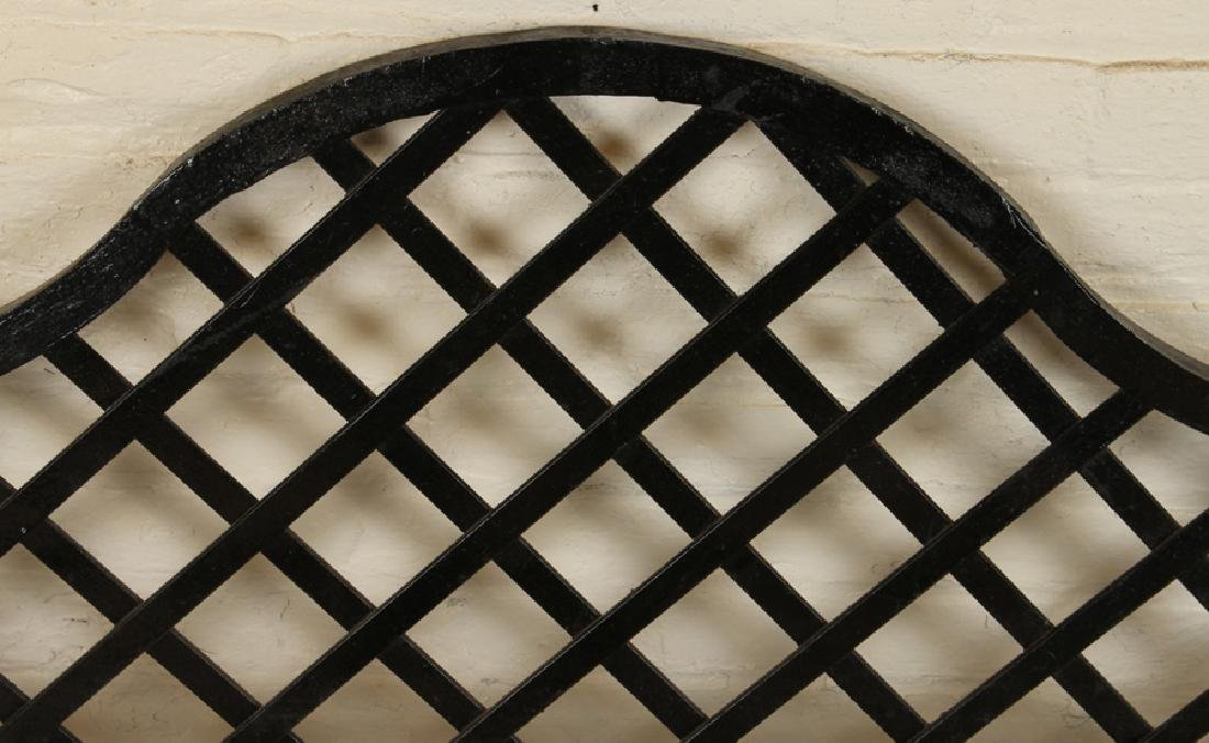 IRON WALL SHELF CROSSHATCHED DESIGN C.1910 - 2