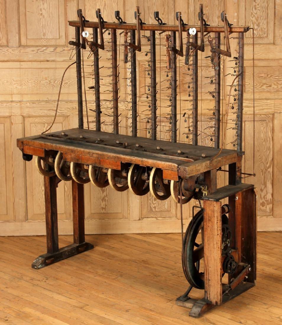 INTERESTING 19TH CENTURY WOOD AND IRON MACHINE