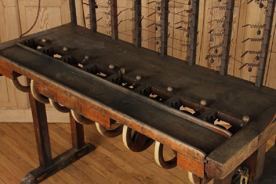 INTERESTING 19TH CENTURY WOOD AND IRON MACHINE - 5