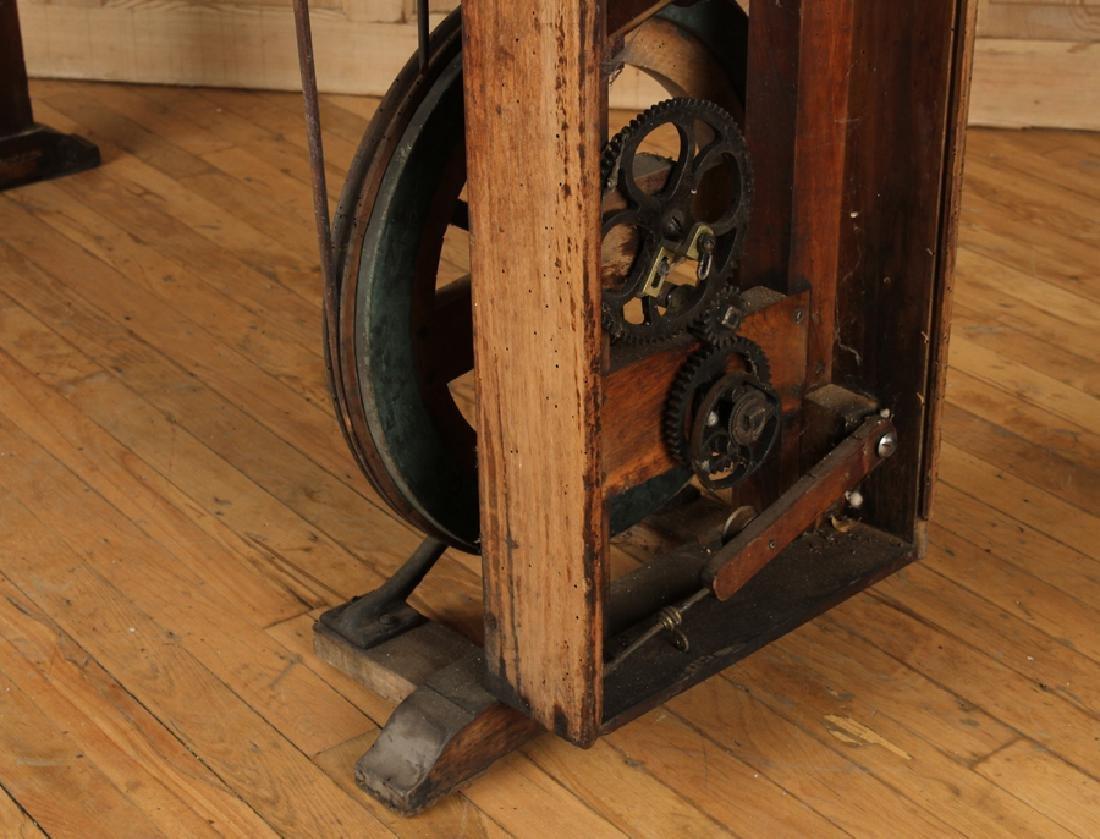 INTERESTING 19TH CENTURY WOOD AND IRON MACHINE - 7