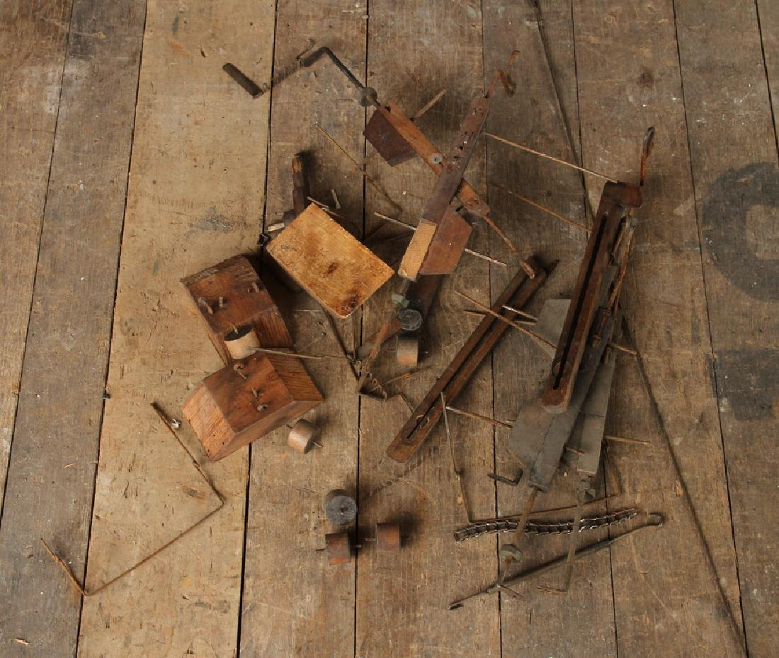 INTERESTING 19TH CENTURY WOOD AND IRON MACHINE - 8