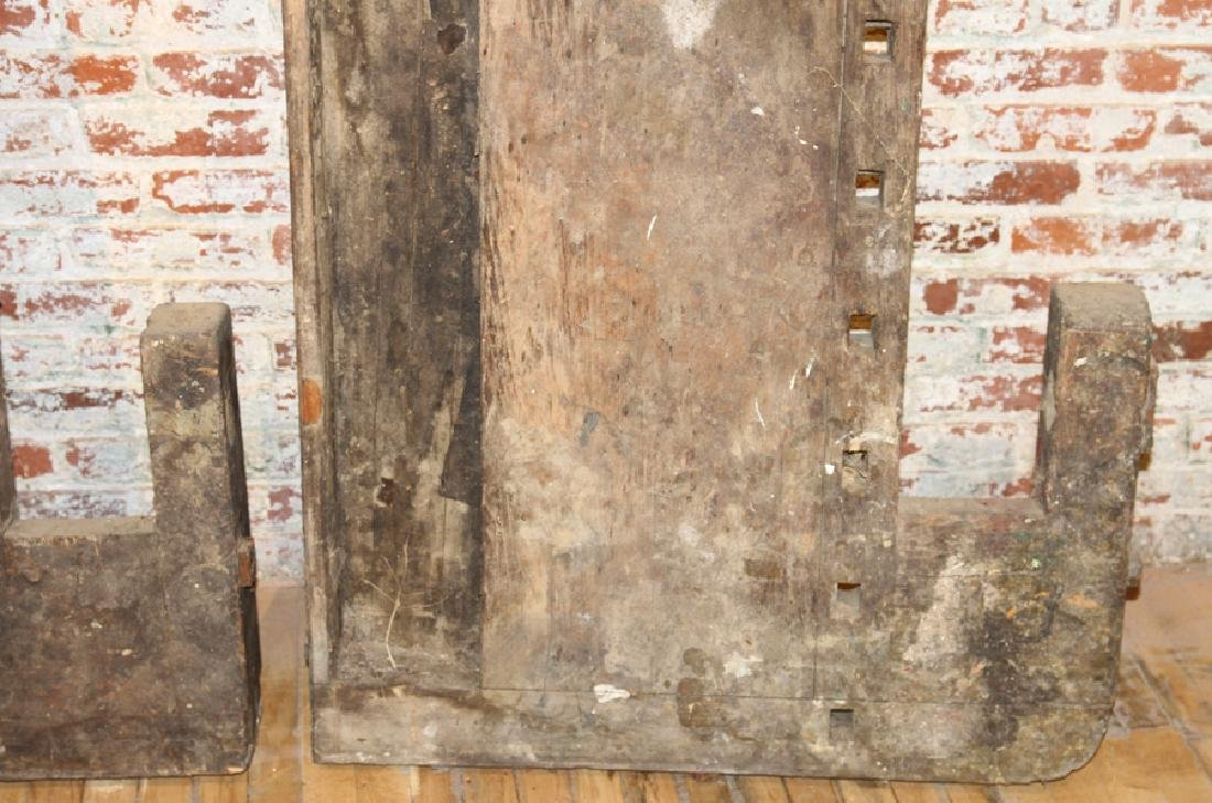 FIVE ANTIQUE WORK BENCH TOPS IRON HARDWARE - 5
