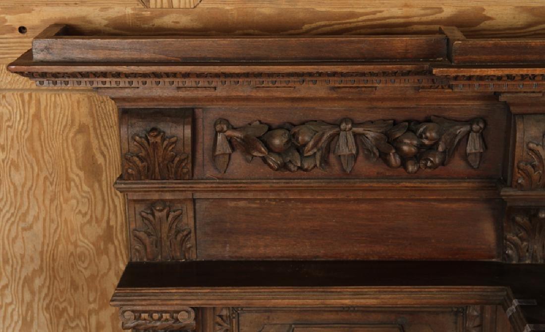 19TH C. FRENCH CARVED WALNUT FIGURAL BACKSPLASH - 3