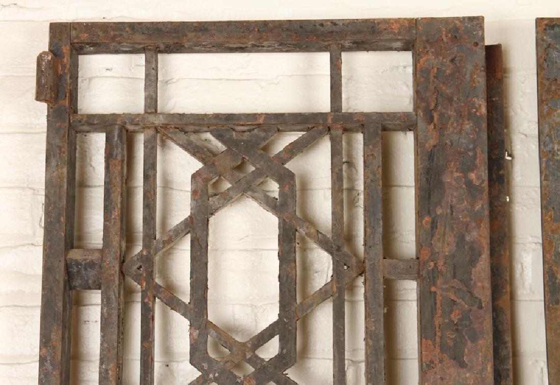 PAIR CAST IRON GEOMETRIC FORM GATES C.1900 - 2