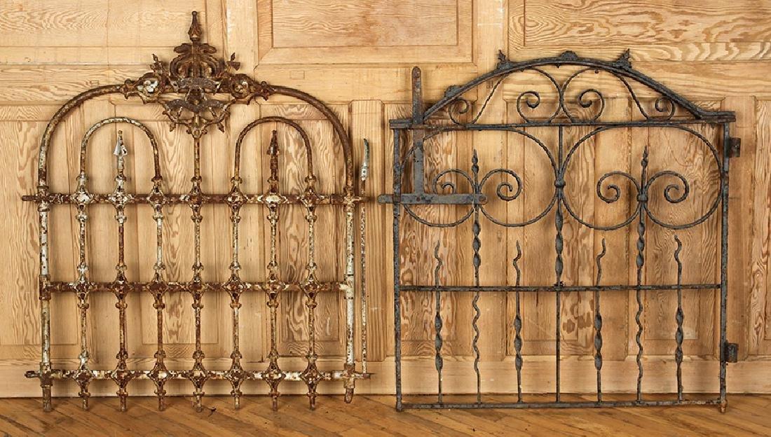 FOUR ANTIQUE WROUGHT IRON GARDEN GATES C1880-1920 - 2