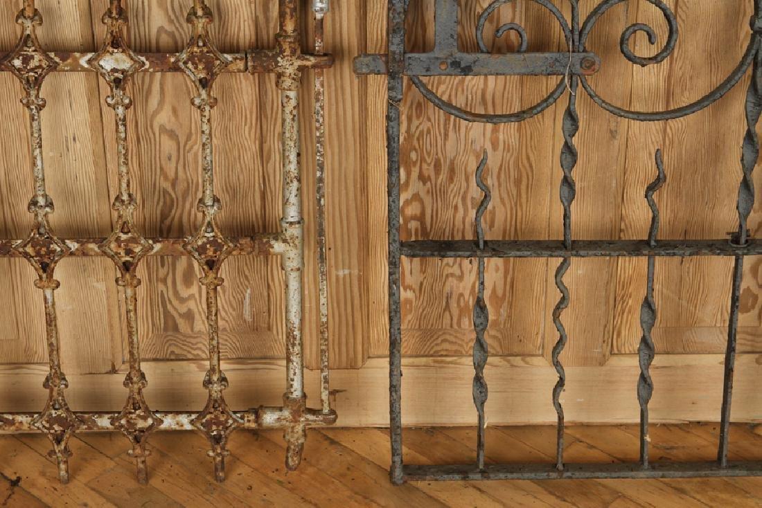 FOUR ANTIQUE WROUGHT IRON GARDEN GATES C1880-1920 - 4