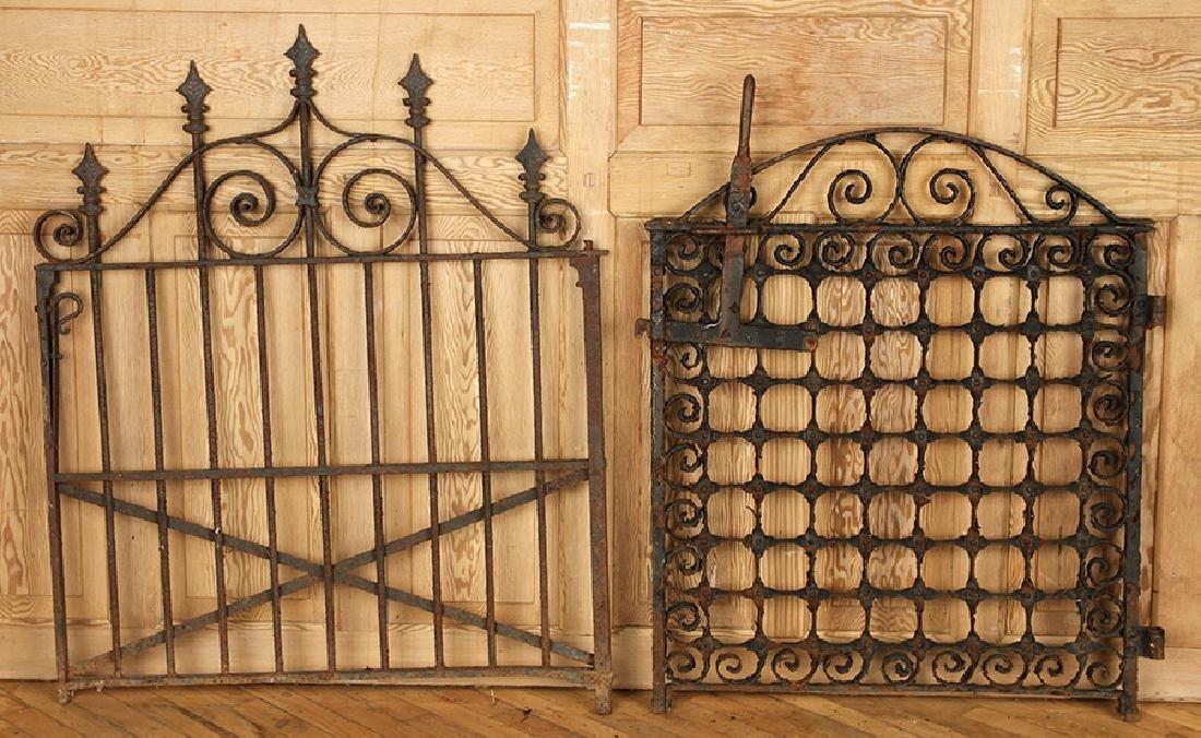 FOUR ANTIQUE WROUGHT IRON GARDEN GATES C1880-1920 - 5