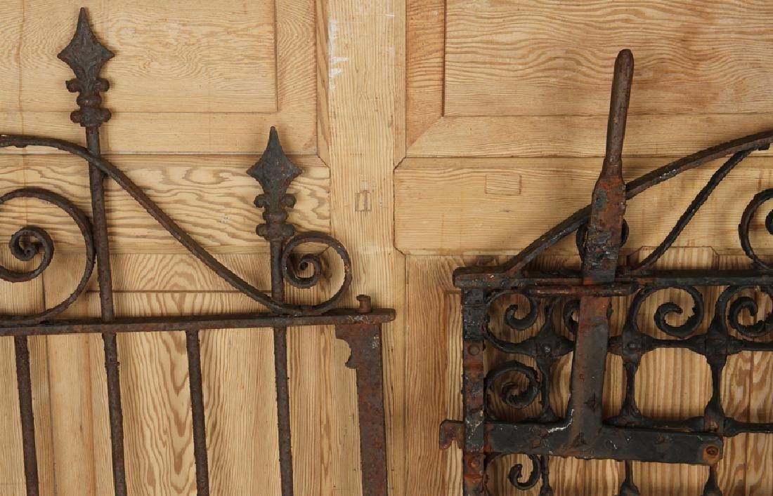 FOUR ANTIQUE WROUGHT IRON GARDEN GATES C1880-1920 - 6