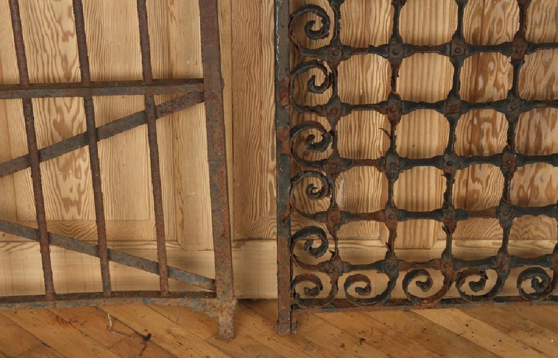 FOUR ANTIQUE WROUGHT IRON GARDEN GATES C1880-1920 - 7