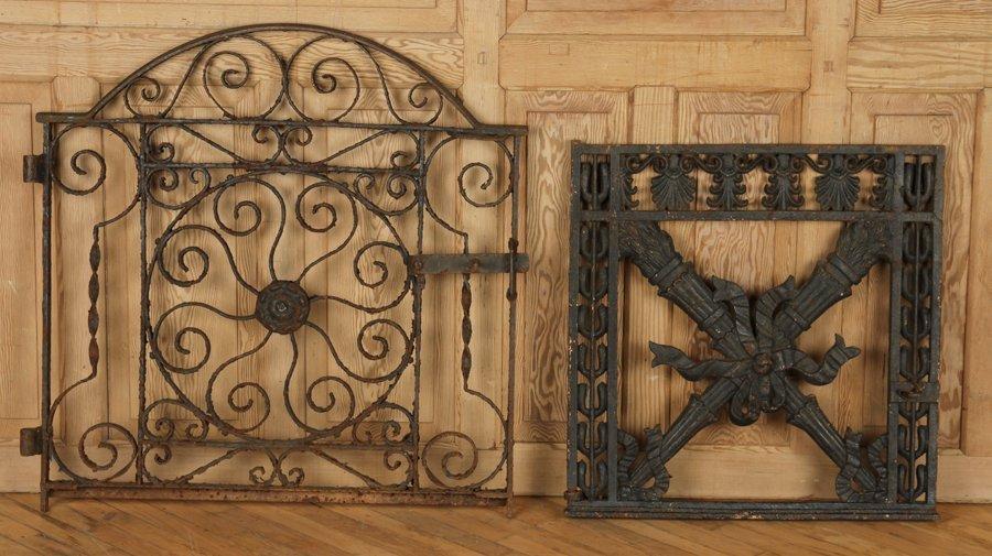 TWO ANTIQUE CAST & WROUGHT IRON GATES C.1890-1910