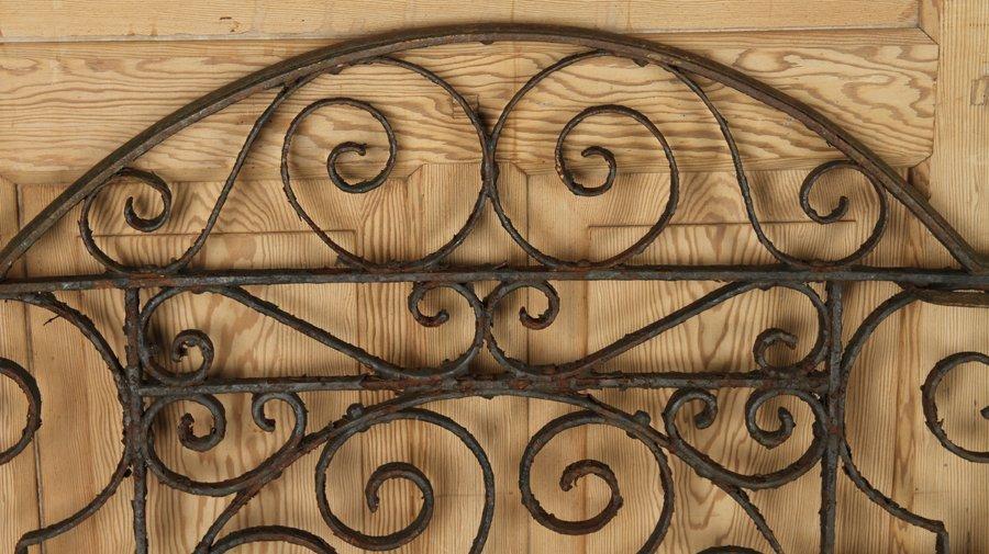 TWO ANTIQUE CAST & WROUGHT IRON GATES C.1890-1910 - 2