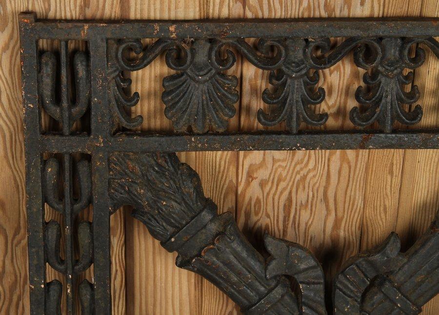 TWO ANTIQUE CAST & WROUGHT IRON GATES C.1890-1910 - 4