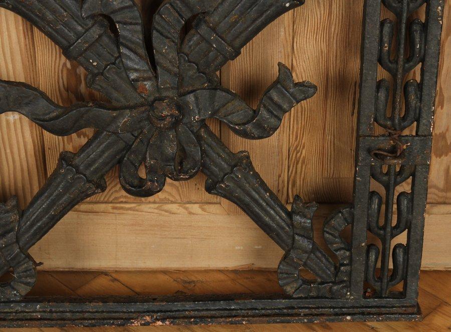 TWO ANTIQUE CAST & WROUGHT IRON GATES C.1890-1910 - 5
