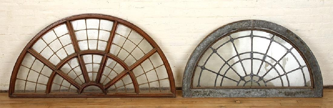 SET 6 LATE 19TH C. LEADED GLASS ARCHED TRANSOMES - 4