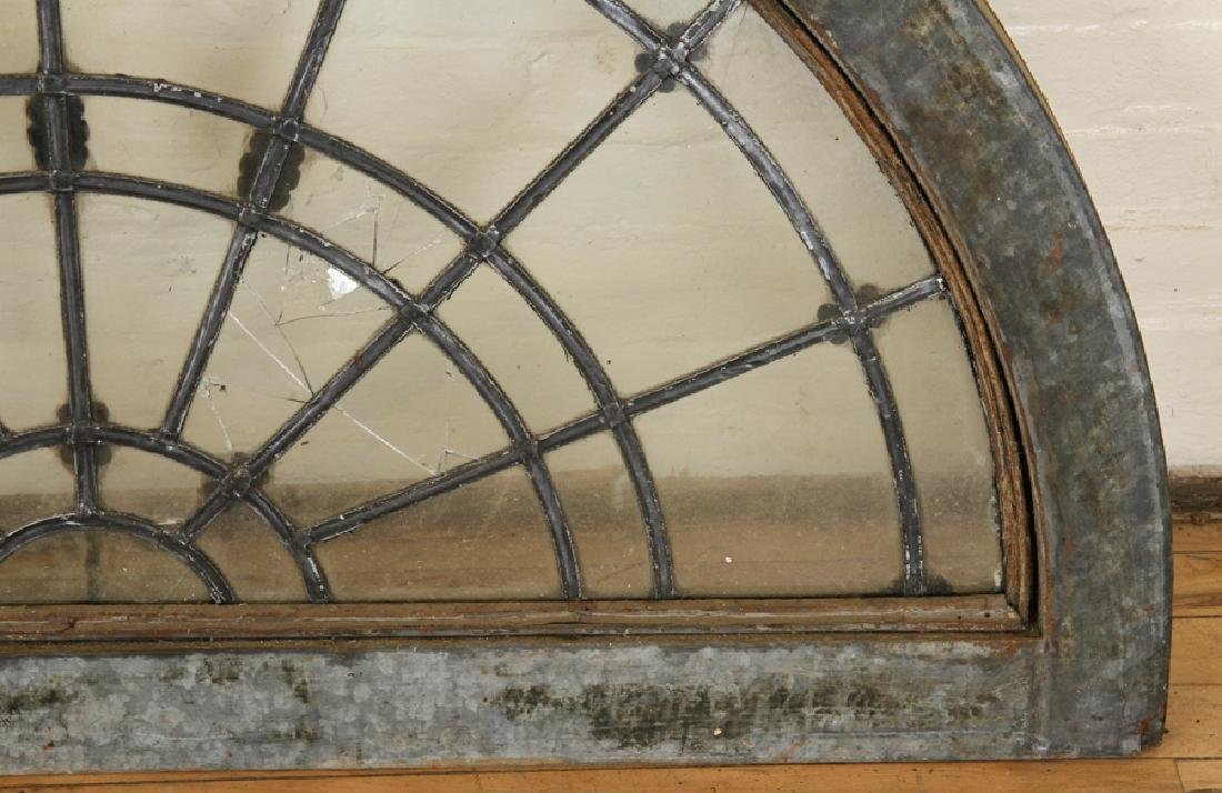 SET 6 LATE 19TH C. LEADED GLASS ARCHED TRANSOMES - 8