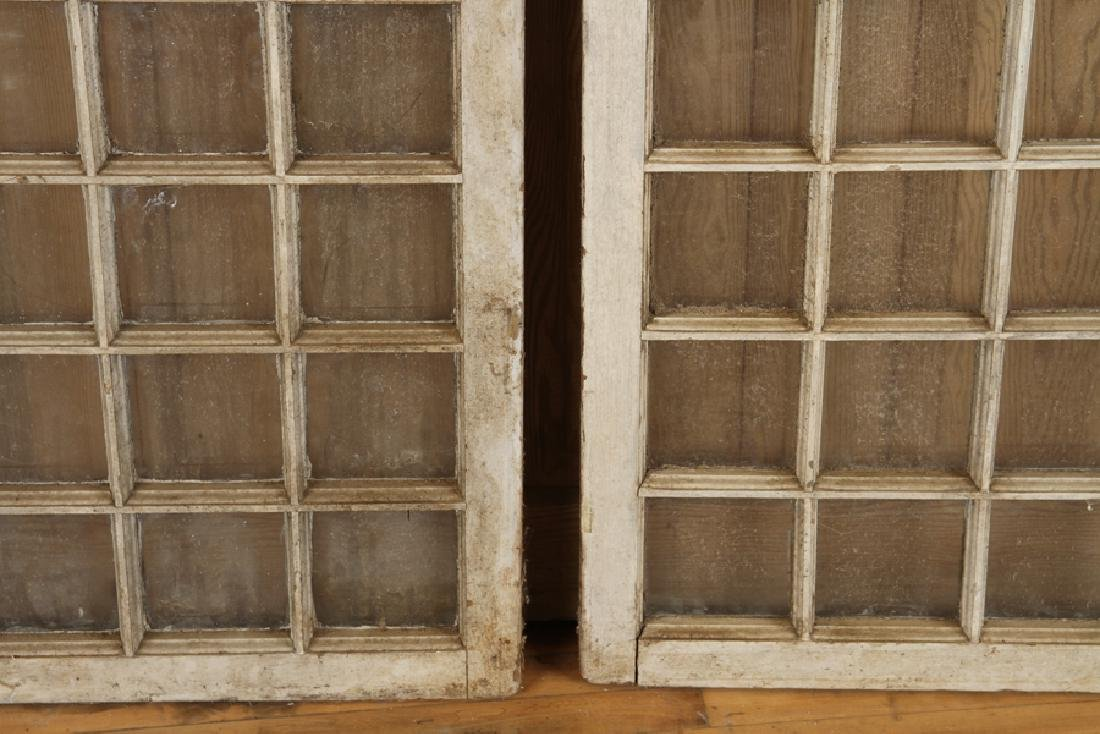 PAIR 19TH CENT. PAINTED ARCHED WINDOWS - 3