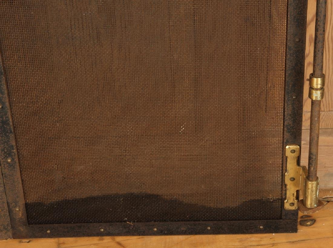 BRONZE AND IRON FIRE PLACE SCREEN CIRCA 1920 - 4
