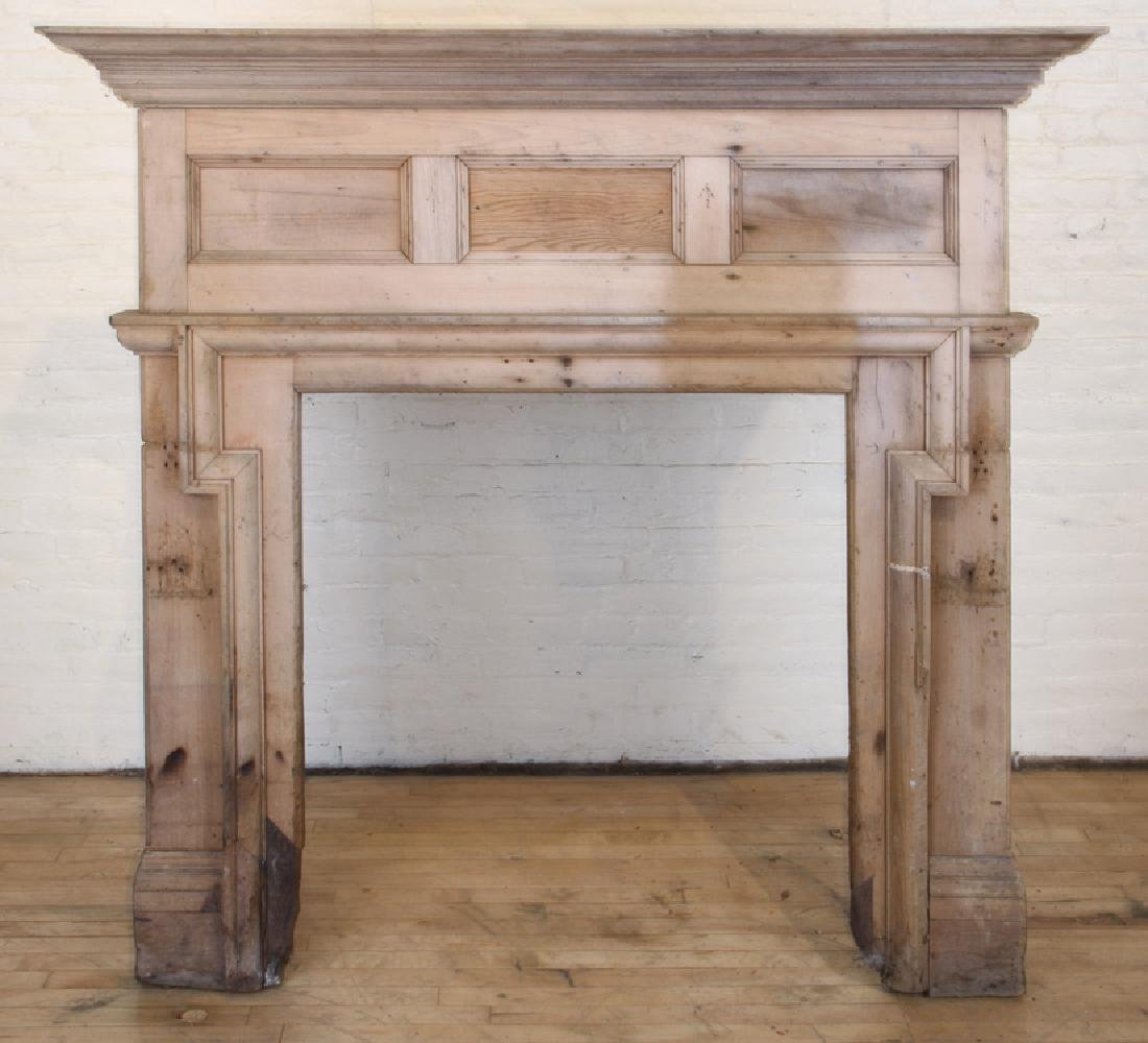 19TH CENTURY PINE FIRE PLACE MANTLE