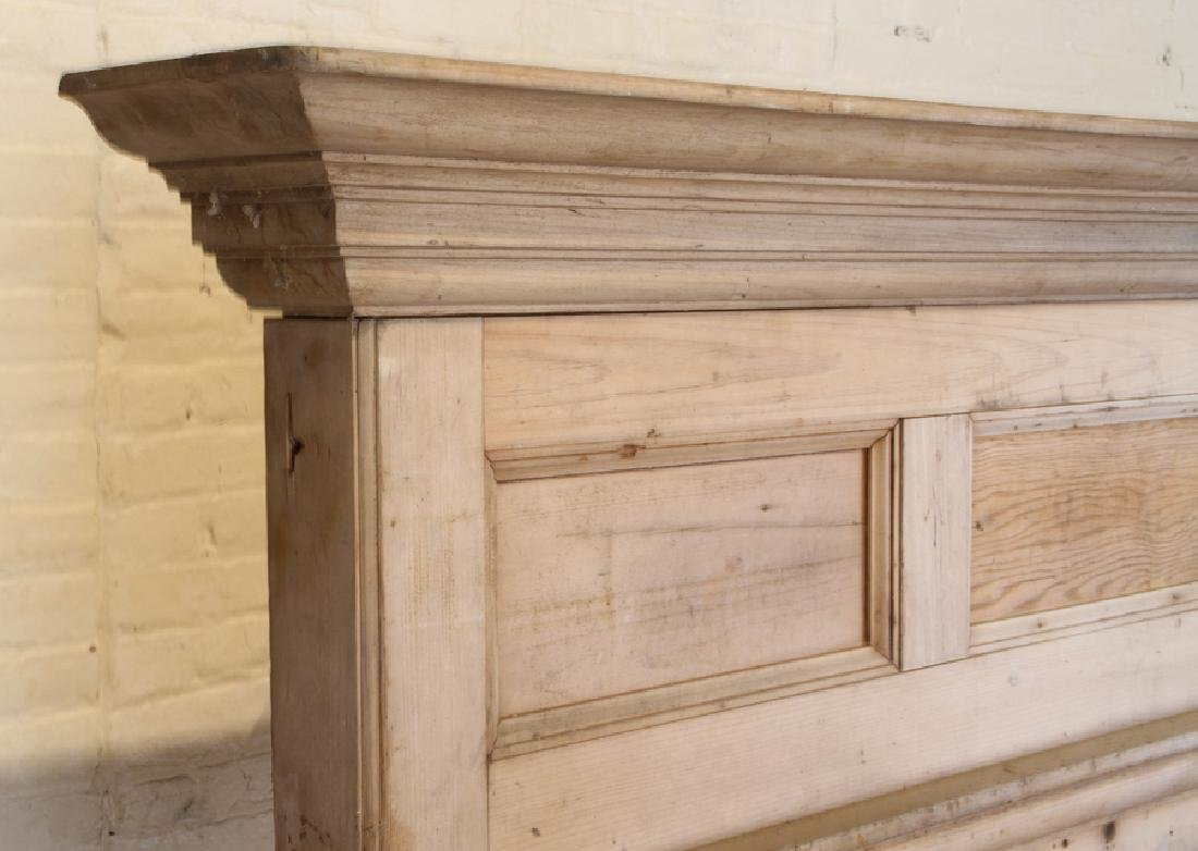 19TH CENTURY PINE FIRE PLACE MANTLE - 2