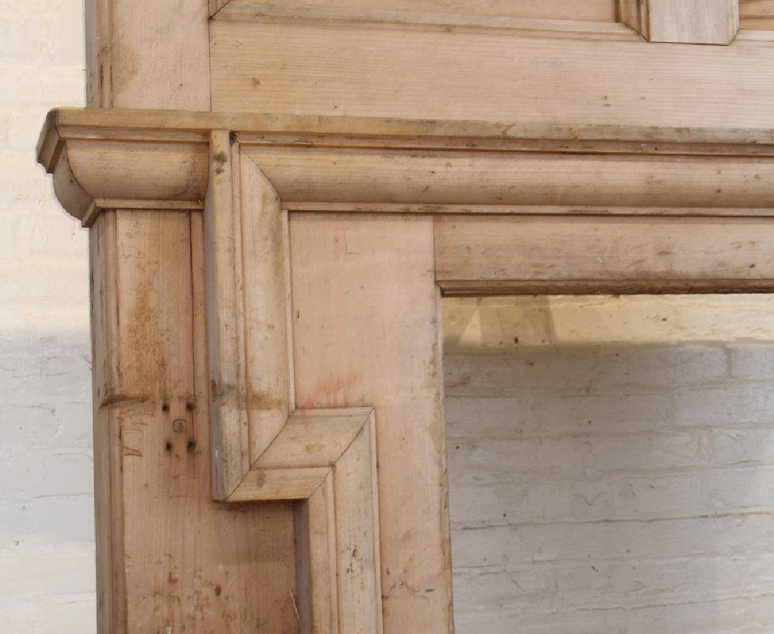 19TH CENTURY PINE FIRE PLACE MANTLE - 3