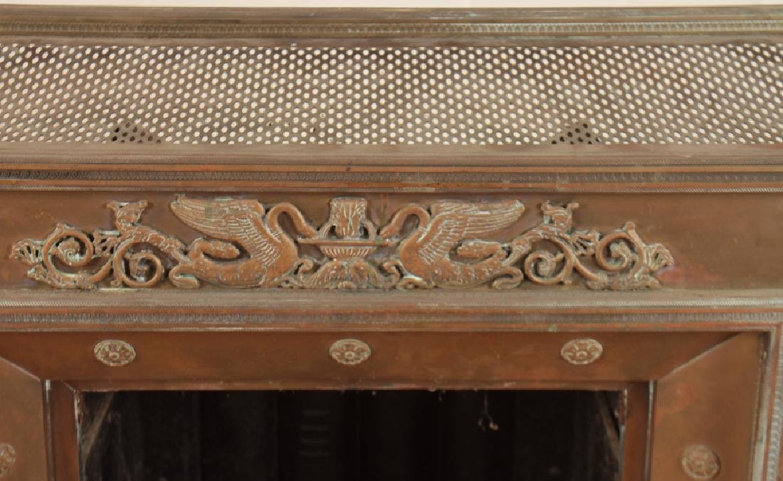 BRONZE AND IRON FIRE PLACE INSERT - 2