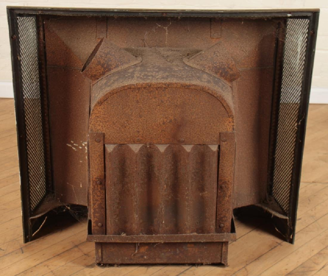 BRONZE AND IRON FIRE PLACE INSERT - 4