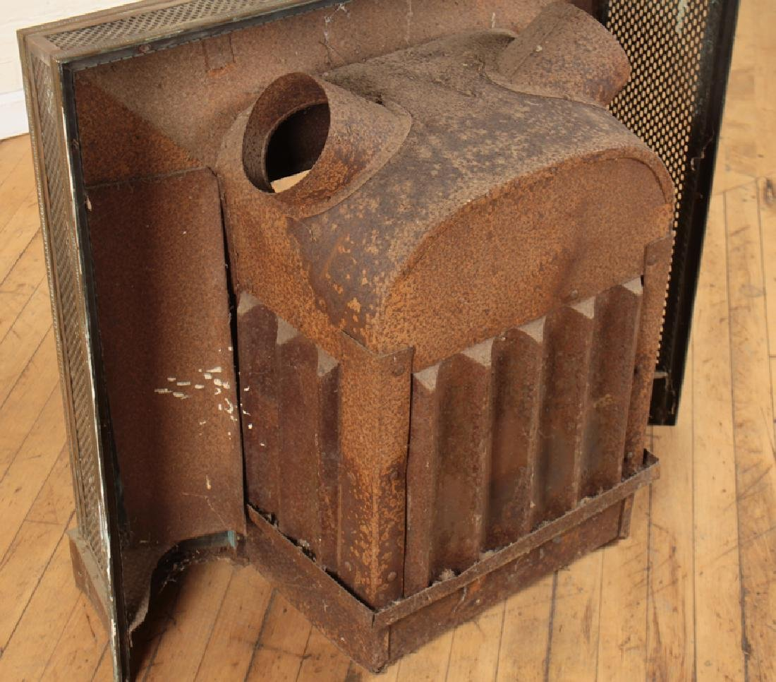 BRONZE AND IRON FIRE PLACE INSERT - 5