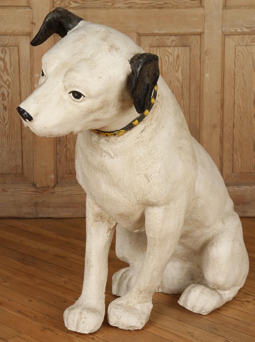 """PAPER MACHE """"NIPPER"""" DOG"""