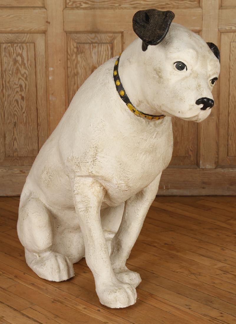 """PAPER MACHE """"NIPPER"""" DOG - 2"""