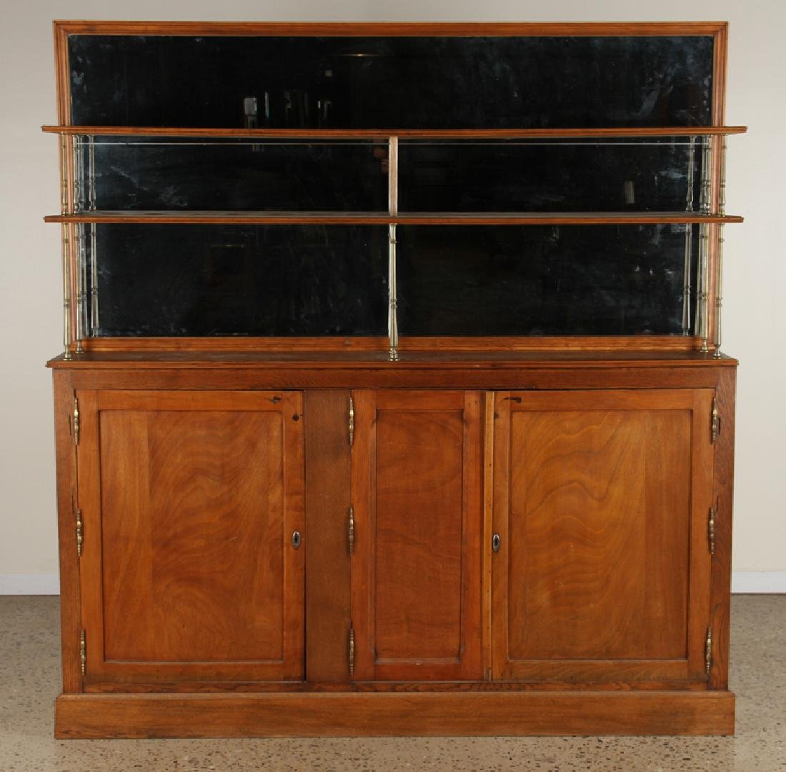 FRENCH OAK AND BRASS BACK BAR C.1910