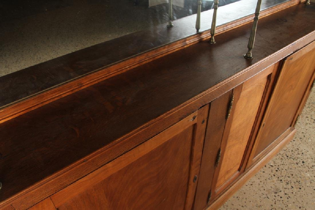 FRENCH OAK AND BRASS BACK BAR C.1910 - 3