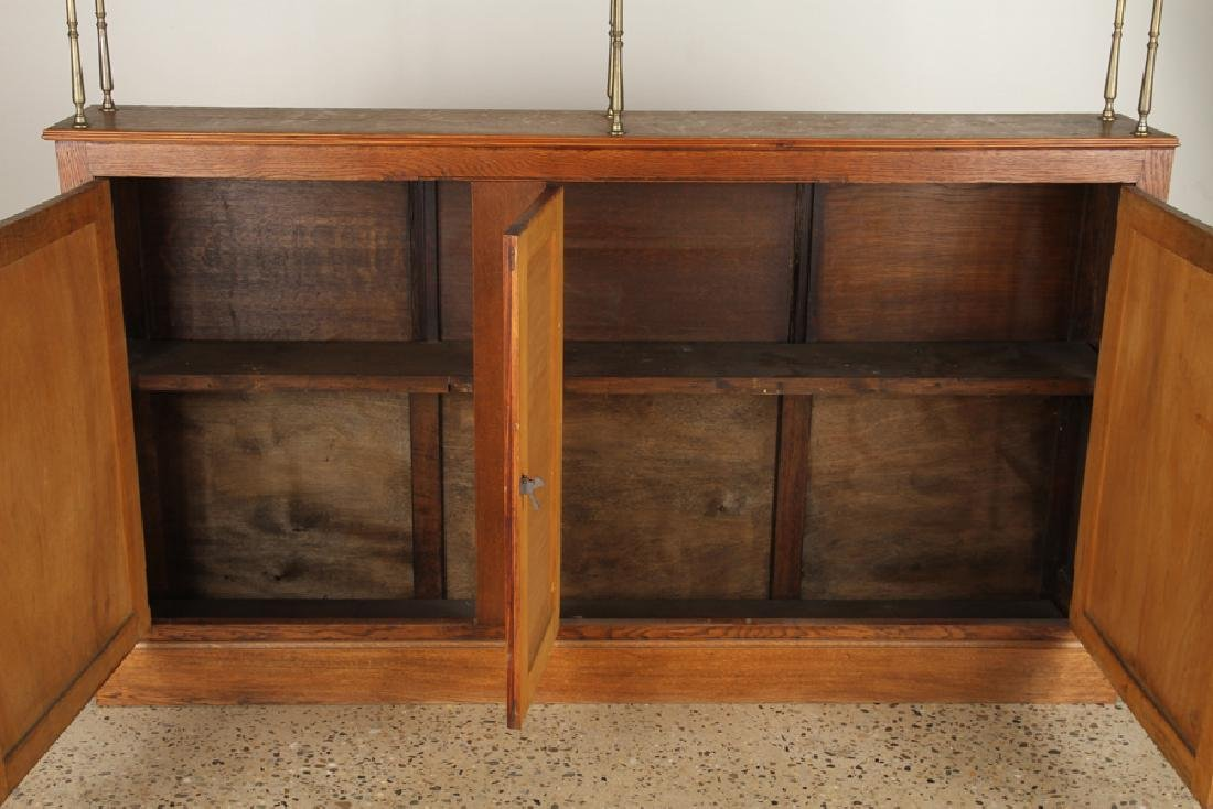 FRENCH OAK AND BRASS BACK BAR C.1910 - 4