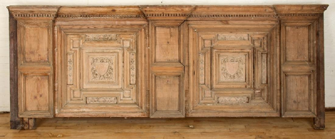19TH CENTURY PINE ARCHITECTURAL PANEL BAR/COUNTER