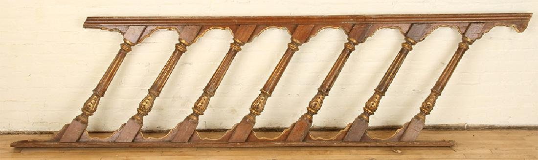 MAHOGANY AND GILT CARVED STAIRCASE - 4