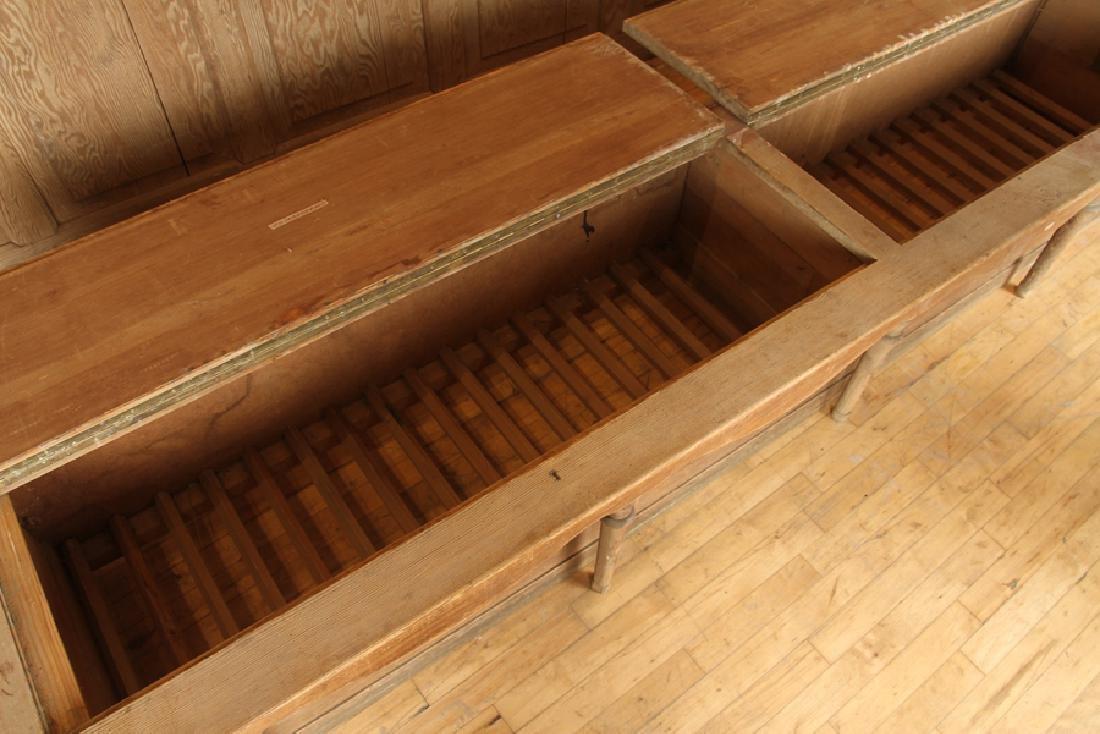 CARVED CHESTNUT L SHAPE BOAT HOUSE BENCH CABINET - 4