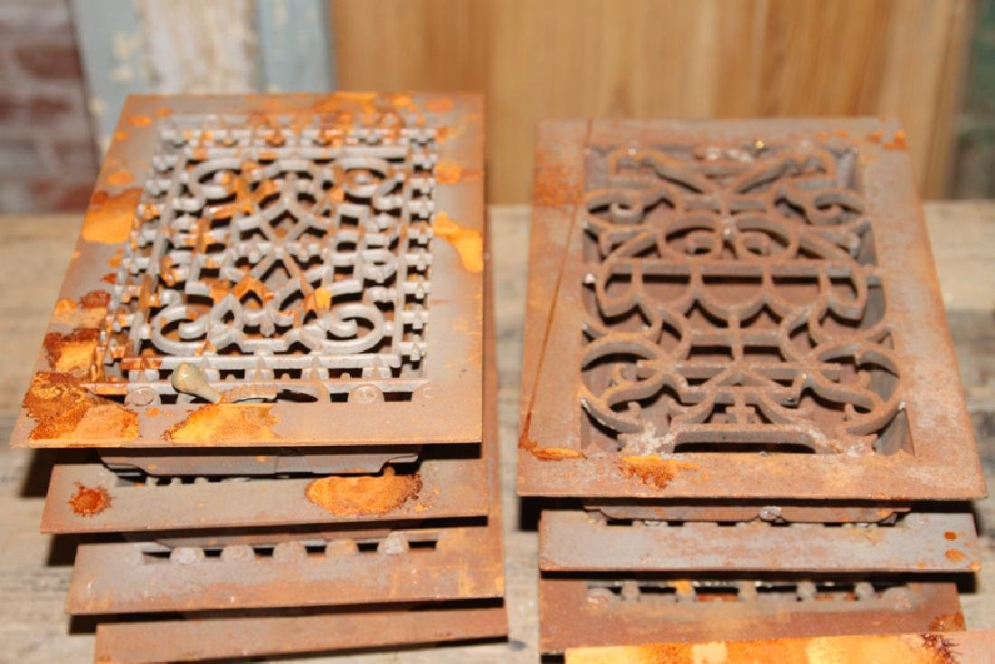 COLLECTION OF 28 PETITE CAST IRON REGISTERS - 2