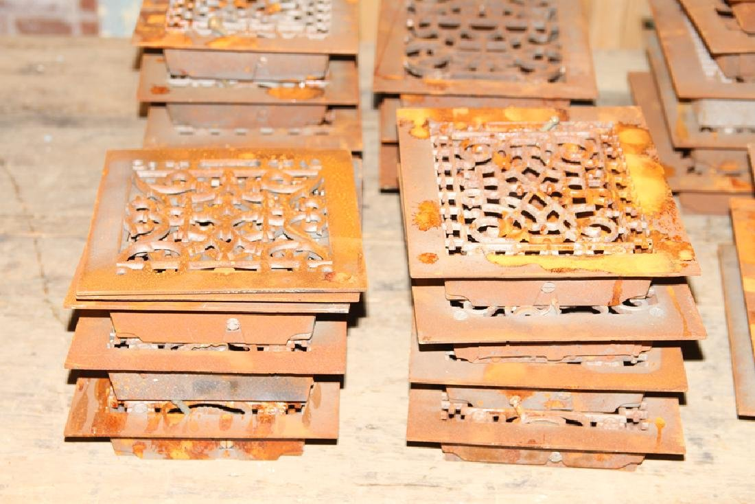 COLLECTION OF 28 PETITE CAST IRON REGISTERS - 3