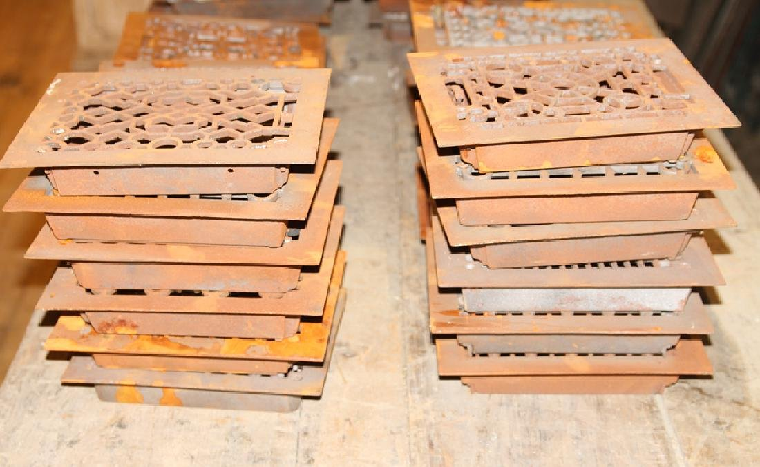 COLLECTION OF 28 PETITE CAST IRON REGISTERS - 4