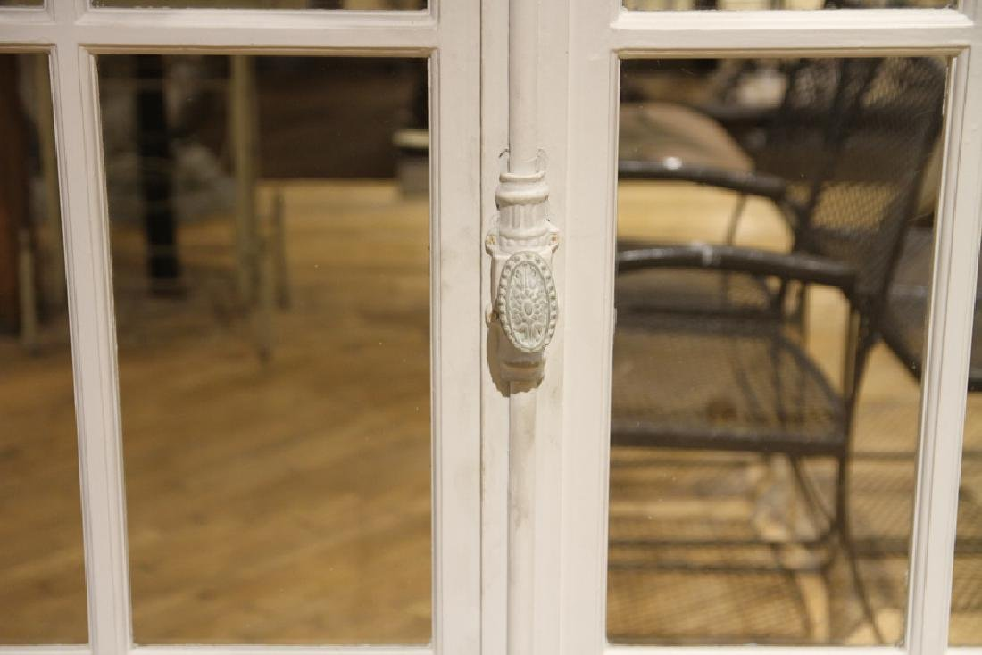 PAIR ANTIQUE FRENCH DOORS TRANSOM AND SIDELIGHTS - 3