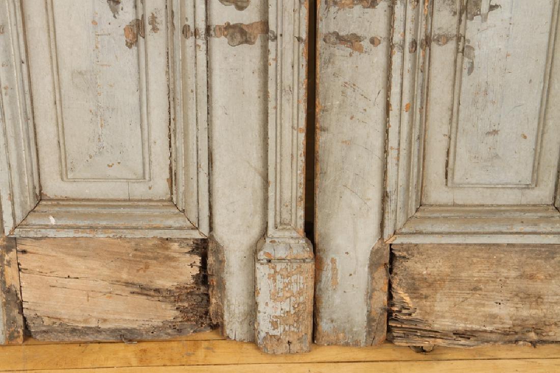 PAIR PAINTED RAISED PANEL DOORS CIRCA 1900 - 5