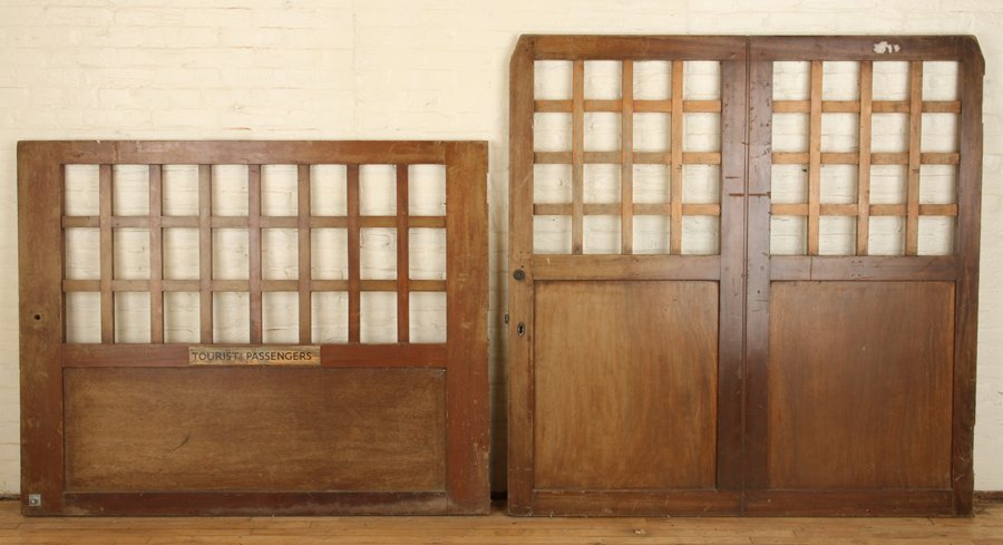 PAIR OF WOOD GATES CIRCA 1900