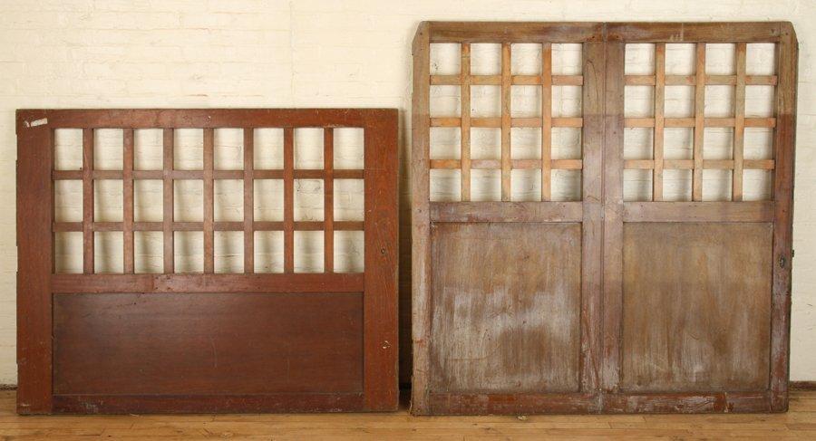 PAIR OF WOOD GATES CIRCA 1900 - 5