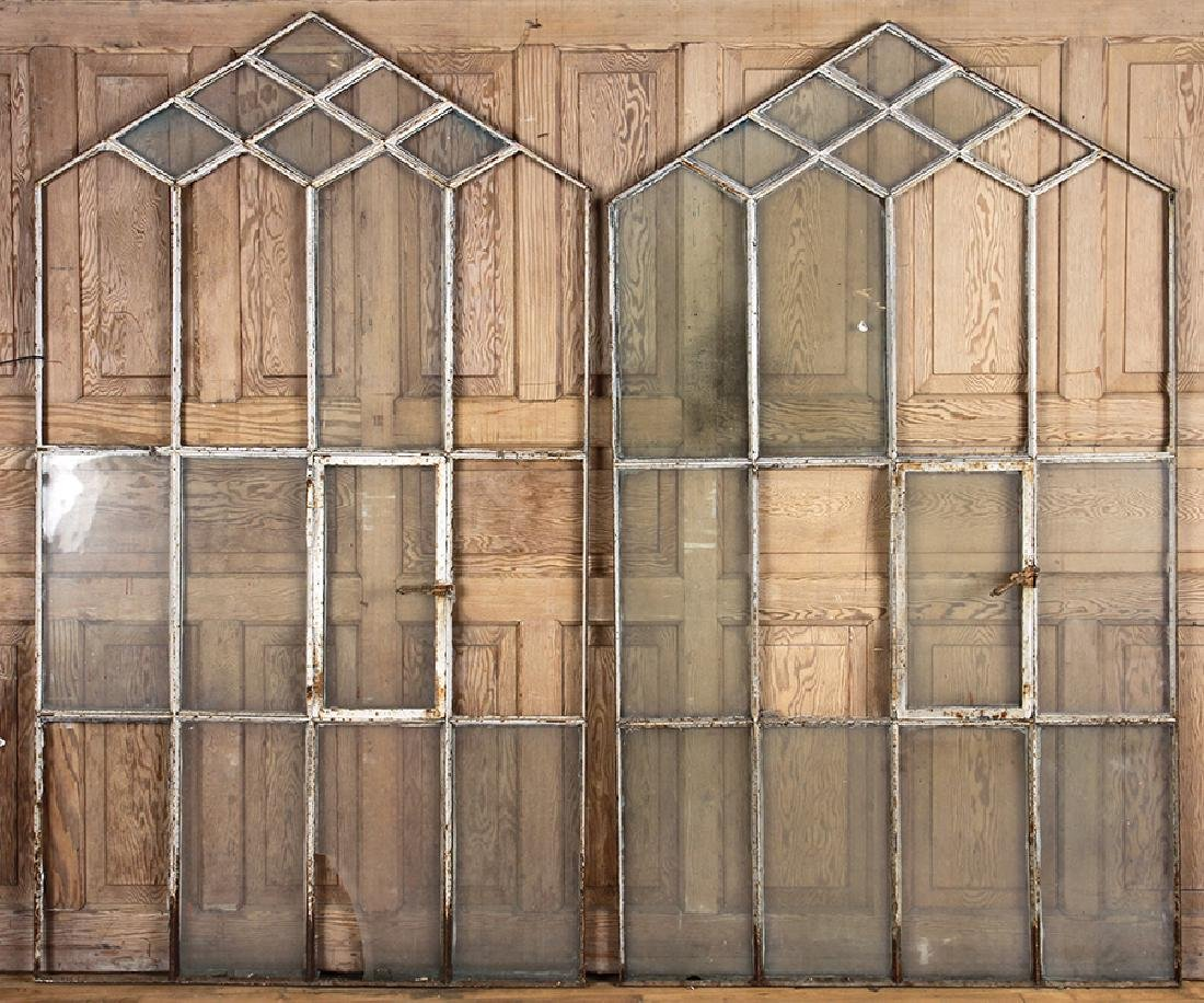 LOT OF 3 WINDOW FRAMES GOTHIC INSPIRED C.1890 - 2
