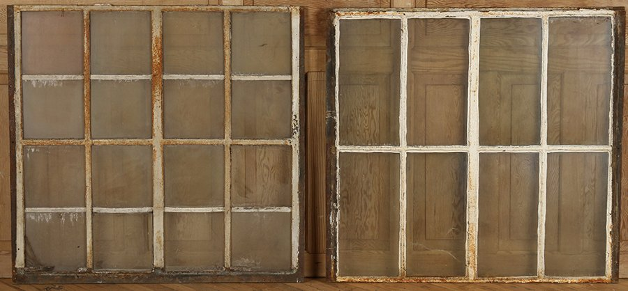 ELEVEN CAST IRON WINDOWS - 3