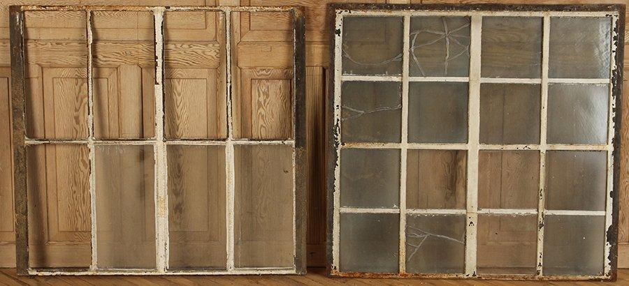 ELEVEN CAST IRON WINDOWS - 4