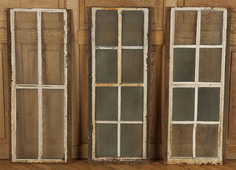 ELEVEN CAST IRON WINDOWS - 7